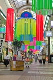 Shopping Street in Hokkaido, Japan Stock Photos