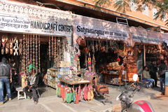 Shopping street in India Royalty Free Stock Photography