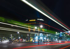 The shopping street Kurfuerstendamm in night illumination Royalty Free Stock Photos