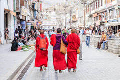Shopping street in Leh, India Royalty Free Stock Images