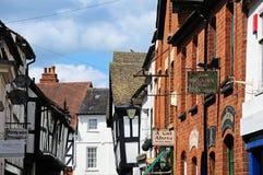 Shopping street, Leominster. Royalty Free Stock Photo