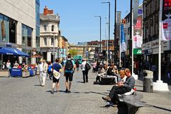 Shopping Street, Liverpool. Stock Images
