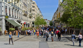 Shopping Street, Lyon France Royalty Free Stock Photo