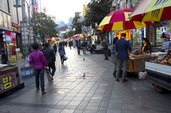Shopping street market Busan royalty free stock image