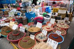 Shopping street market Seoul Stock Photos