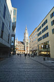 Shopping street in Munich Royalty Free Stock Photography