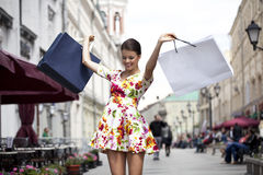 Shopping street Stock Photos