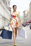 Shopping street Stock Images