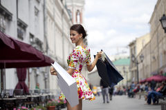 Shopping street Stock Photography