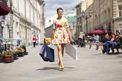 Shopping street Royalty Free Stock Images