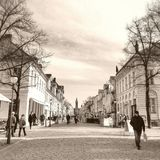 Shopping street in Potsdam Stock Images