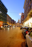 Shopping street in Rome Royalty Free Stock Image