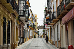Shopping street in Ronda Royalty Free Stock Photos
