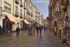 Shopping street in Salamanca, Spain Stock Photo