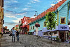 Shopping street in Stavanger Royalty Free Stock Photo