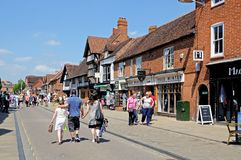 Shopping street, Stratford-upon-Avon. Stock Photos