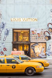 Shopping street at 5th Avenue in NYC Stock Photos