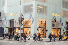 Shopping street at 5th Avenue in NYC Stock Photo