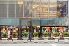 Shopping street at 5th Avenue in NYC Royalty Free Stock Image
