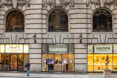 Shopping street at 5th Avenue in NYC Royalty Free Stock Photo