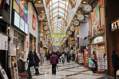 Shopping street with tourists at Nakano Royalty Free Stock Images