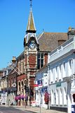 Shopping Street and town hall, Wareham. Stock Images