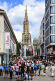Shopping street in Ulm, Germany Stock Photos