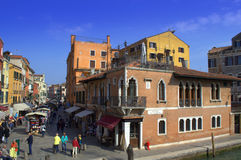 Shopping street,Venice Stock Image