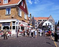 Shopping Street, Volendam. Stock Photos
