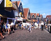 Shopping Street, Volendam. Stock Photography