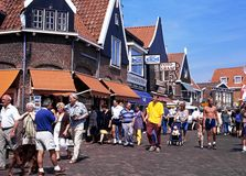 Shopping Street, Volendam. Royalty Free Stock Photography