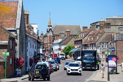 Shopping Street, Wareham. Stock Images
