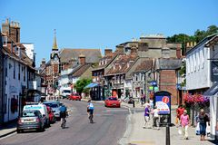 Shopping Street, Wareham. Royalty Free Stock Photography