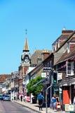 Shopping Street, Wareham. Royalty Free Stock Photo