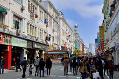 Shopping street in Xiamen city, China Royalty Free Stock Image