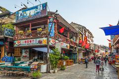 Shopping street of Yangshuo, China Stock Images
