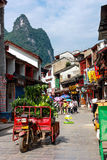 Shopping Street in Yangshuo Royalty Free Stock Images