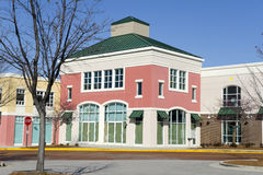 Shopping Strip Mall Architecture Stock Image