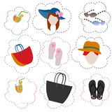 Shopping summer icon Royalty Free Stock Photos
