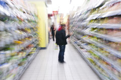 Shopping at the supermarket Stock Photography