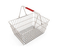 Shopping supermarket basket  on the white Royalty Free Stock Photography
