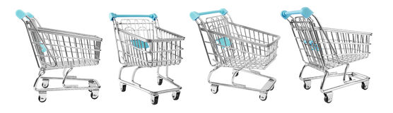 Shopping supermarket cart Royalty Free Stock Photo