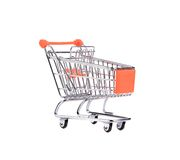 Shopping supermarket cart. Royalty Free Stock Images