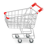 Shopping  supermarket cart Vector Royalty Free Stock Photo