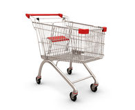 Shopping supermarket cart Royalty Free Stock Images