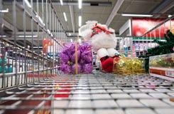 Shopping at the supermarket Royalty Free Stock Photo