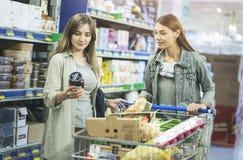 Shopping at supermarket, shopping concept Stock Image