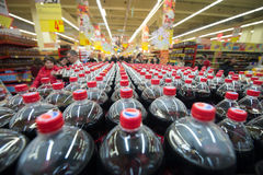 Shopping in a supermarket Royalty Free Stock Photography
