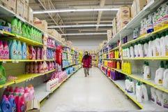 Shopping at Supermarket Stock Image