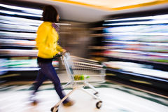 Shopping at the supermarket Royalty Free Stock Image
